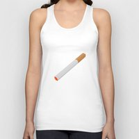 cigarette Tank Tops featuring Cigarette. by Brian Grey