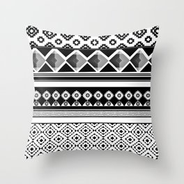 Modern Black 2 Throw Pillow