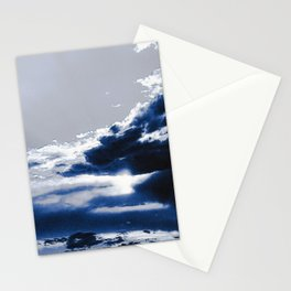 arctic blue landscape Stationery Cards