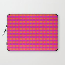 Jazzy Checks in Orange, Pink and Purple Laptop Sleeve