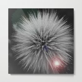 3-D Dandelion Puff Up Close And Personal Metal Print