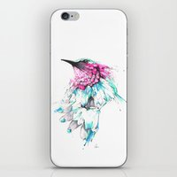 hummingbird iPhone & iPod Skins featuring Hummingbird by Alexis Marcou