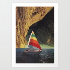 On Holiday Art Print