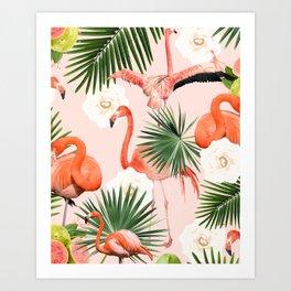 Flamingo Guava #society6 #decor #buyart Art Print