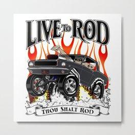 Kelly's 64 Mustang - Live To Rod rev 2 Metal Print
