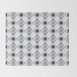 Geometric Pattern. Circles and Rhombuses Throw Blanket