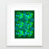 emerald Framed Art Prints featuring Emerald by Ingrid Castile