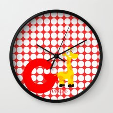 g for giraffe Wall Clock