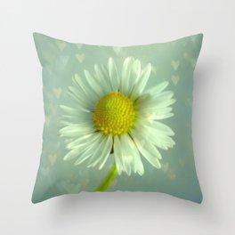 Daisy Love - Flower Throw Pillow