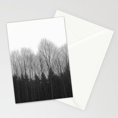 Trees in rows Stationery Cards