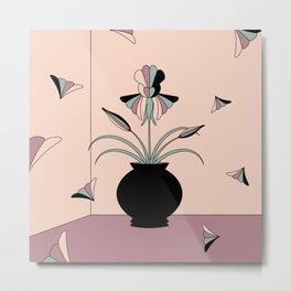 Windswept Irises Metal Print