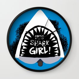 SHARK GIRL Wall Clock