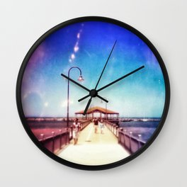 Pier Photo - A Stroll Along the Jetty Art Print Wall Clock