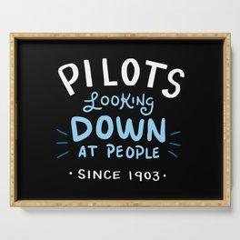 Aerospace Engineer Gift: Pilots Looking Down On People Serving Tray