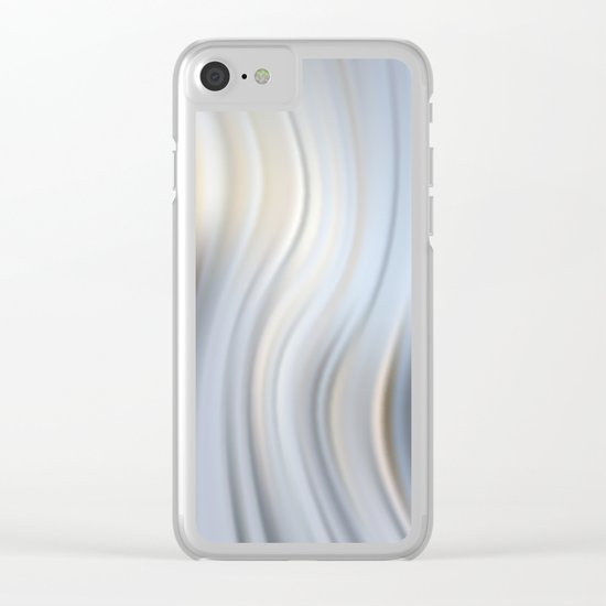 Abstract modern wavy background, elegant wave illustration Clear iPhone Case