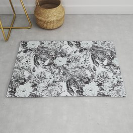 Snakes in bloom Rug