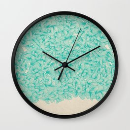 Abstract Pattern – Turquoise Wall Clock
