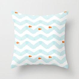 Golf Fish Throw Pillow
