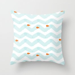 Golf Fish Throw Pillow