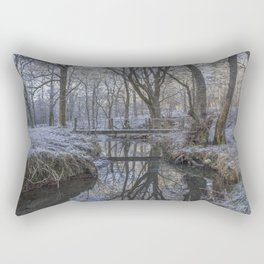 Reflections in the Stream Rectangular Pillow