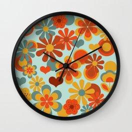 70's Flower Power Wall Clock
