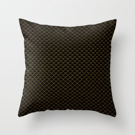 Gold Scales Throw Pillow