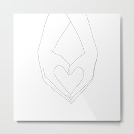 Hands of Love Metal Print