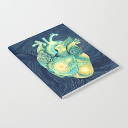 Anatomical Human Heart - Starry Night Inspired Notebook