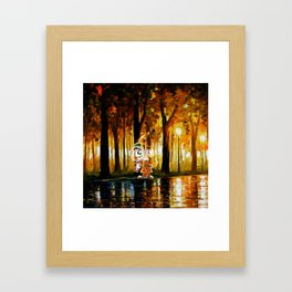 Searching for evidence Framed Art Print