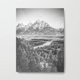 Mountain Black & White Metal Print