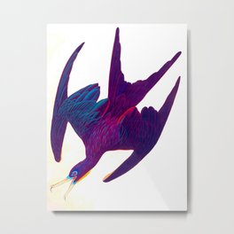 Frigate Pelican John James Audubon Vintage Scientific Bird Illustration Metal Print