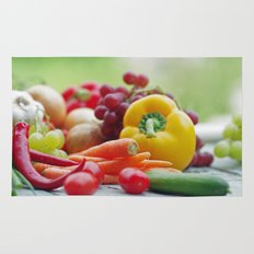 Fruits and Vegetables Variety in the kitchen Rug