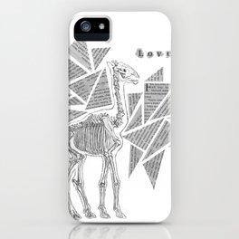 Skeletal Giraffe iPhone Case