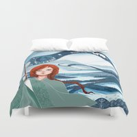saga Duvet Covers featuring The Banner Saga by Tori
