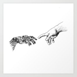 The Creation of Outer Space Art Print