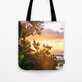 Kauai Hawaii Sunrise | Tropical Beach Nature Ocean Coastal Travel Photography Print Tote Bag