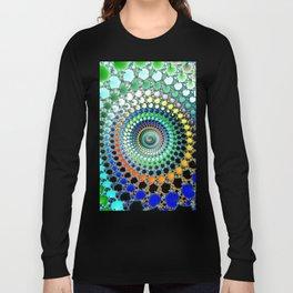 Fractal Spiral Trippy Art Print Long Sleeve T-shirt