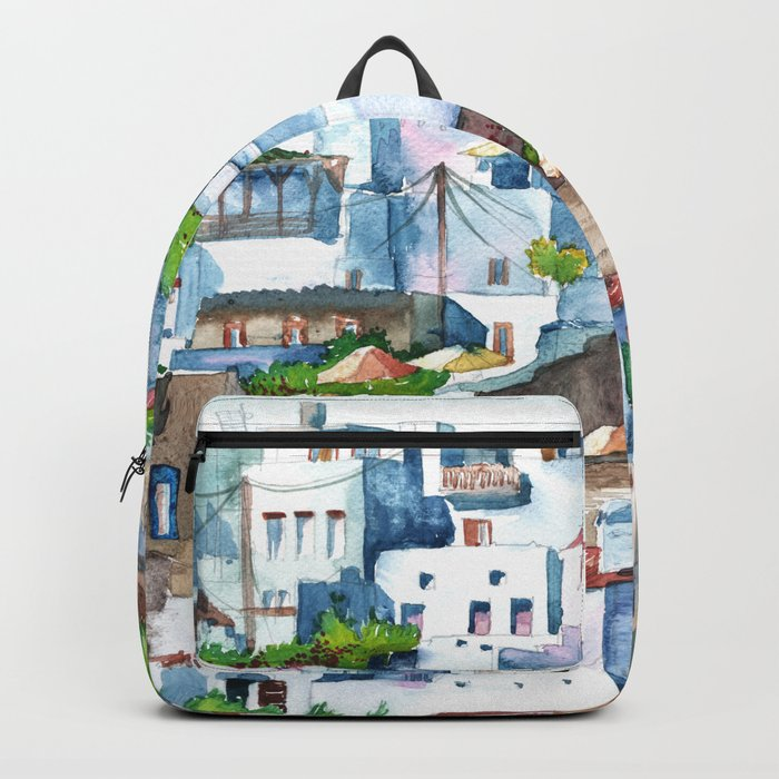 Panorama of Lindos Backpack