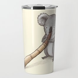 Koala Playing the Didgeridoo Travel Mug