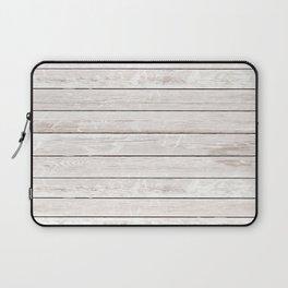 Rustic ivory white vintage wood Laptop Sleeve
