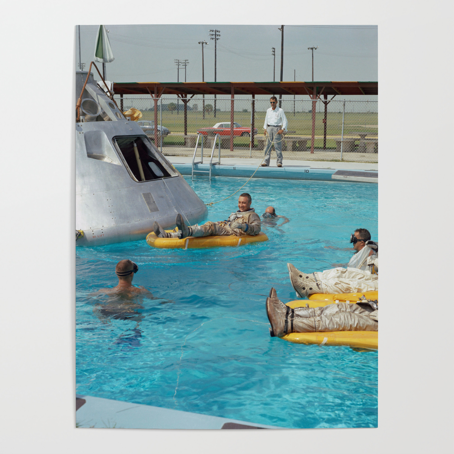 Apollo 1 - Relaxing by the Swimming Pool Poster by projectapollo