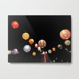 Lanterns - Greg Katz Metal Print