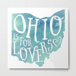Ohio is for Lovers (Blue) Metal Print