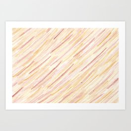 Gently brown striped Art Print
