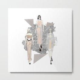 Fashionary 9 Metal Print