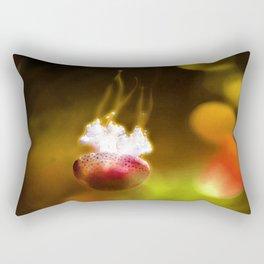 Jellyfish Through the Raging Fire Rectangular Pillow