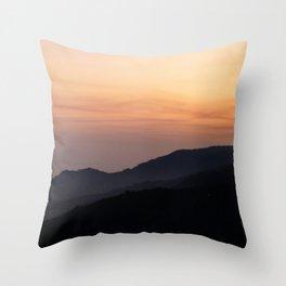 Hillside Sunset Throw Pillow