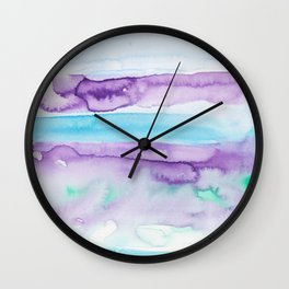 21   | Abstract Minimal Watercolor Painting | 191223 Wall Clock