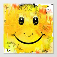 Just another smiley face Canvas Print