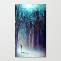 loish Canvas Prints featuring AquaForest by loish